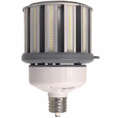 400-Watt Equivalent 100-Watt Corn Cob ED37 LED High Lumen High Bay Bypass Light Bulb Mog 120-277V Daylight 5000K 84109