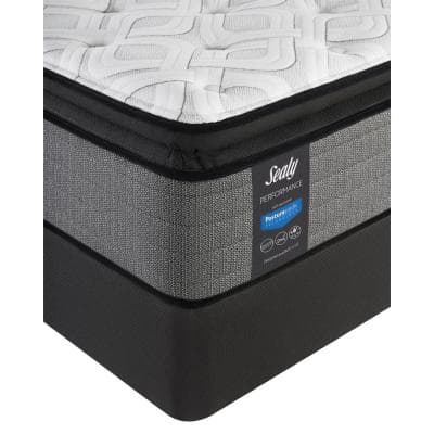 Response Performance 14 in. Cushion Firm Euro Pillowtop Mattress Set with 9 in. High Profile Foundation