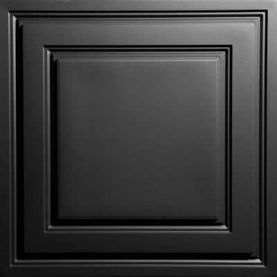 Oxford Black 2 ft. x 2 ft. Lay-in Ceiling Panel (Case of 6)