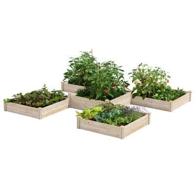 12 ft. x 12 ft. 80 sq. ft. Original Pine Raised Garden Bed