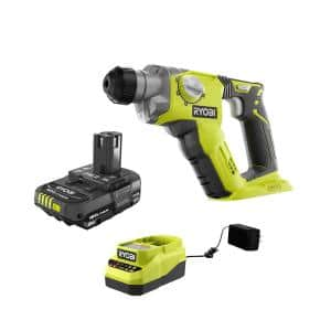 ONE+ 18V Cordless 1/2 in. SDS-Plus Rotary Hammer Drill with 2.0 Ah Battery and Charger