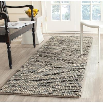 Bohemian Gray/Multi 3 ft. x 16 ft. Striped Runner Rug