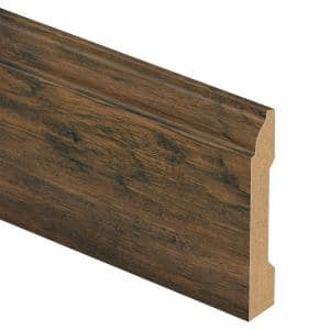 Saratoga Hickory 9/16 in. Thick x 3-1/4 in. Wide x 94 in. Length Laminate Wall Base Molding