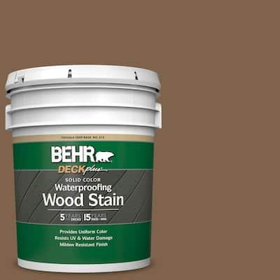 5 gal. #SC-109 Wrangler Brown Solid Color Waterproofing Exterior Wood Stain