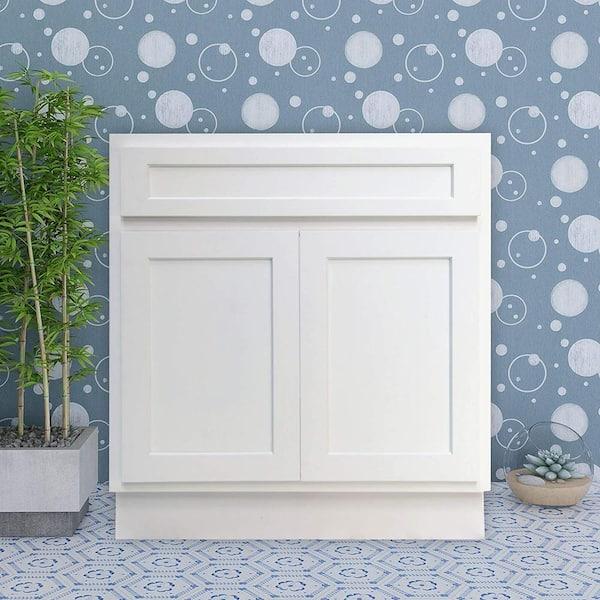 Vanity Art 33 In W X 21 In D X 32 5 In H 2 Doors Bath Vanity Cabinet Only In White Va4033w The Home Depot