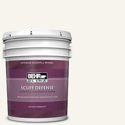 5 gal. #75 Polar Bear Extra Durable Eggshell Enamel Interior Paint & Primer