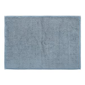 Blue 20 in. x 28 in. Cotton Bath Rug Turkish Reversible
