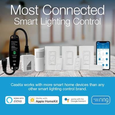 Caseta Wireless Smart Lighting Dimmer Switch (2 Count) Starter Kit with Smart Bridge