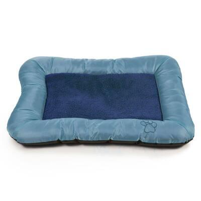 Extra Large Blue Plush Cozy Pet Crate Dog Pet Bed