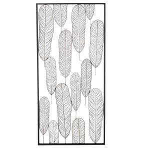Black Metal Contemporary Floral Wall Decor 22 in. x 46 in.