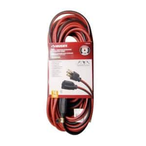 50 ft. 16/3 Indoor/Outdoor Extension Cord, Red and Black