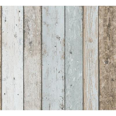 Peelable Chapin Blue Beachwood Wallpaper