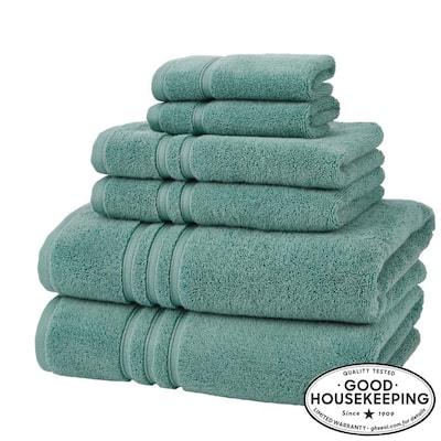 Turkish Cotton Ultra Soft 6-Piece Towel Set in Aloe