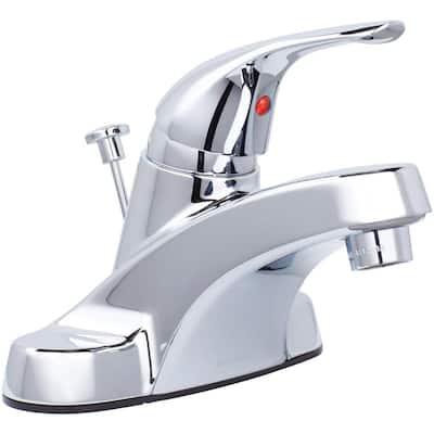 Aragon 4 in. Centerset Single-Handle Low-Arc Bathroom Faucet in Chrome