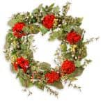 32 in. Mixed Ivy/Flower Spring Wreath