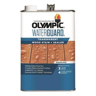 WaterGuard 1 gal. Sequoia Red Transparent Wood Stain and Sealer