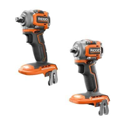 18V SubCompact Brushless Cordless 3/8 in. Impact Wrench and 1/2 in. Impact Wrench Kit (Tools-Only)
