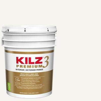 PREMIUM 5 Gal. White Interior/Exterior Primer, Heavy-Duty High Hide Sealer, and Stain Blocker