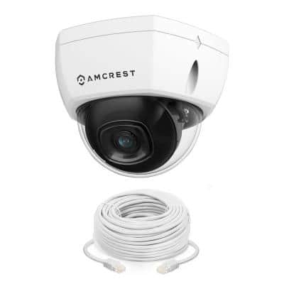4K UltraHD 8MP Wired Outdoor Dome POE IP Surveillance Camera, 98ft Night Vision, IP67 Weatherpoof, IK10 Vandal Resistant