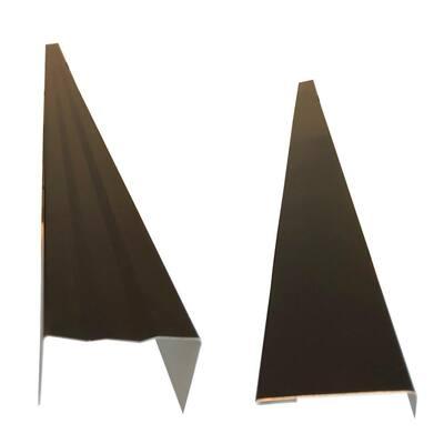 2.5 x 2.25 in.x 85 in. Complete Aluminum Metal Brickmold and Jamb Door Trim Cover Kit-72 in. Door w/Siding, Dark Bronze