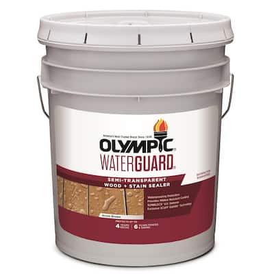 WaterGuard 5 gal. Acorn Brown Semi-Transparent Wood Stain and Sealer
