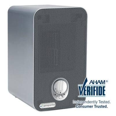 4-in-1 HEPA Air Purifier System with UV Sanitizer, and Odor Reduction, 11 in. Table Top Tower