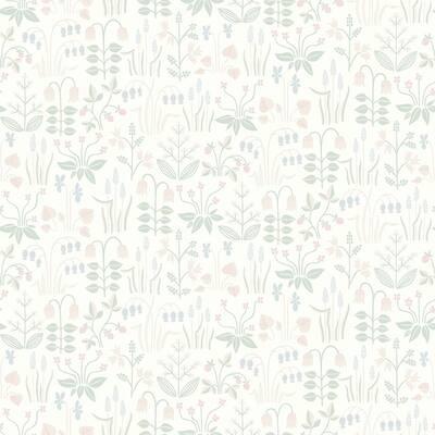 Strawberry Field Cream Garden Cream Wallpaper Sample