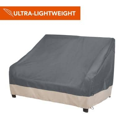 Renaissance Ultralite Water Resistant Outdoor Patio Loveseat Cover, 82.5 in. W x 38 in. D x 38.25 in. H, Gray
