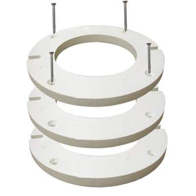 7 in. O.D. x 1/4 in. Thick Complete Plastic Closet Flange Extension Kit with Caulk and Bolts
