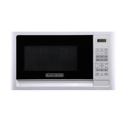 0.9 cu. ft. Countertop Digital Microwave in White