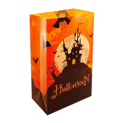 Halloween House Plastic Luminary Bag (12-Count)