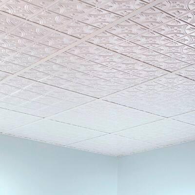 100 sq. ft. White Suspended Ceiling Kit