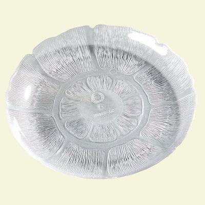 7.68 in. Diameter Petal Mist Dessert Plate in Clear (Case of 36)