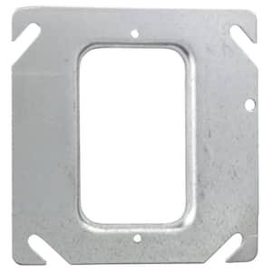 4 in. Square Metal 1-Gang Electrical Box Mud Ring