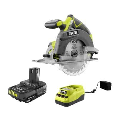 ONE+ 18V Cordless 6-1/2 in. Circular Saw with 2.0 Ah Battery and Charger