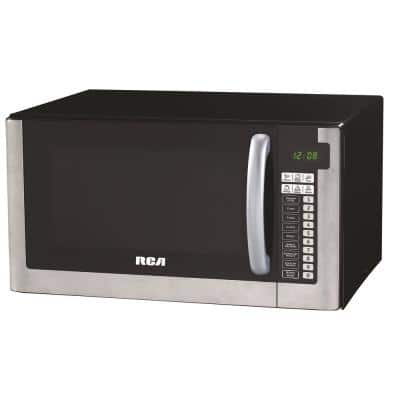 1.6 cu. ft. Countertop Microwave in Stainless Steel Design