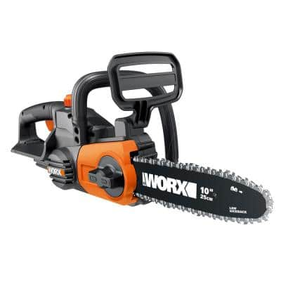 POWER SHARE 20-Volt Li-Ion 10 in. Electric Cordless Chain Saw, Auto-Tension, Auto-Oiling (Tool Only)