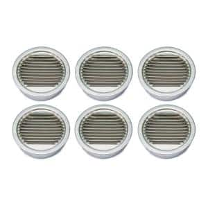 3.43 in. x 3.44 in. Round Mill Finish Weather Resistant Aluminum Soffit Vent