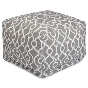 Gray Athens Outdoor Ottoman Cushion