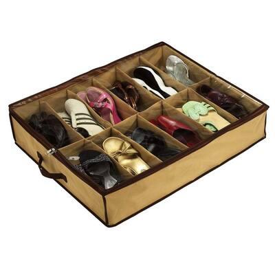 12-Pair Under Bed Shoe Storage