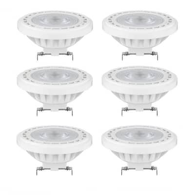 50-Watt Equivalent AR111 Aluminum Reflector 24-Degree Spotlight LED Light Bulb in Warm White 3000K (6-Pack)