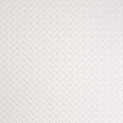 RaceDay Diamond Tread Absolute White 24 in. x 24 in. Peel and Stick Polyvinyl Tile (40 sq. ft. / case)
