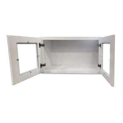 White Plywood Shaker Stock Ready to Assemble Wall Kitchen Cabinet with 2-Doors 24 in. W x 12 in. H x 12 in. D
