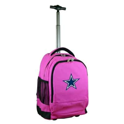 NFL Dallas Cowboys 19 in. Pink Wheeled Premium Backpack