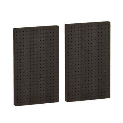 22 In H X 13 5 In W Pegboard Black Styrene One Sided Panel 2 Pieces Per Box 771322 Blk The Home Depot