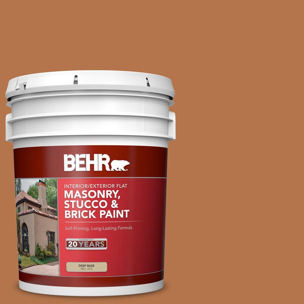 5 gal. #SC-533 Cedar Naturaltone Flat Interior/Exterior Masonry, Stucco and Brick Paint