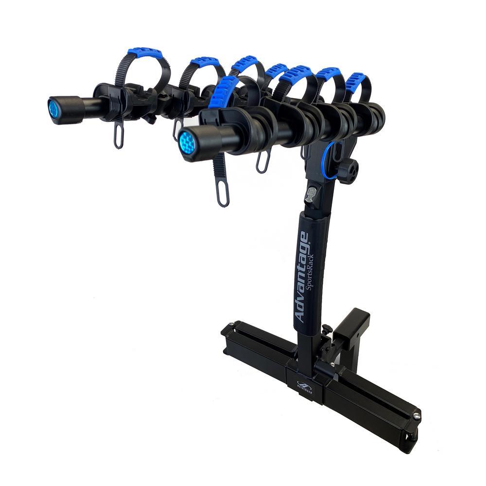 4-Bike Hitch Bike Rack Glideaway Elite 4 Bike Carrier