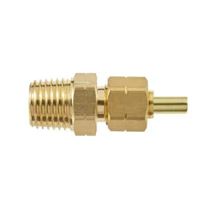 1/4 in. OD Compression x 1/4 in. MIP Brass Adapter Fitting