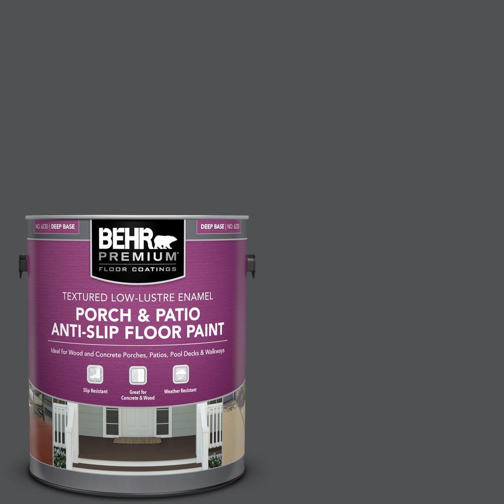 1 gal. #PPU18-01 Cracked Pepper Textured Low-Lustre Enamel Interior/Exterior Porch and Patio Anti-Slip Floor Paint