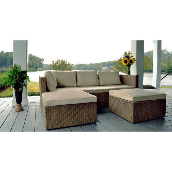 Tortuga Outdoor Space Saver Steel Frame, Patio Sectional Replacement Cushions Canada